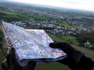 Map reading from a balloon