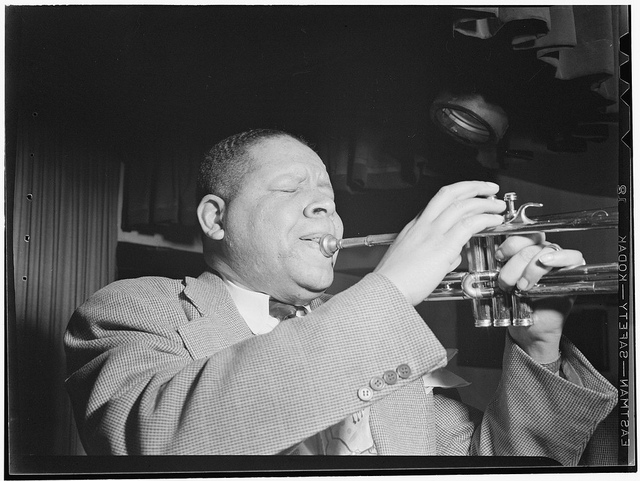 Jazz trumpeter Henry Allen playing in 1946